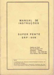 Manual Frontura (pente) Silver mod. SRP 60 N em Português