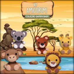 Kit Amigurumi Coleção Safari Baby